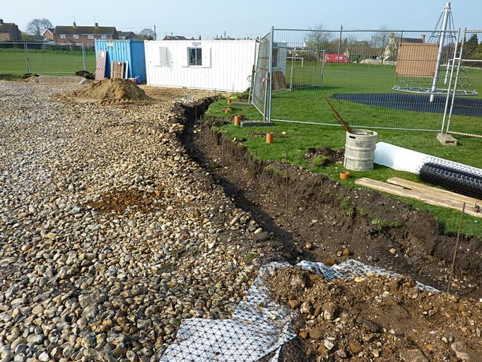 Trench for kerbing stones 1