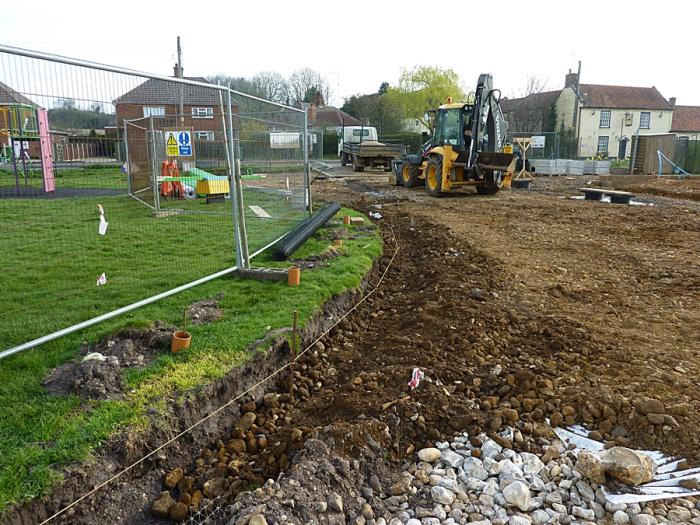 Trench for kerbing stones 3
