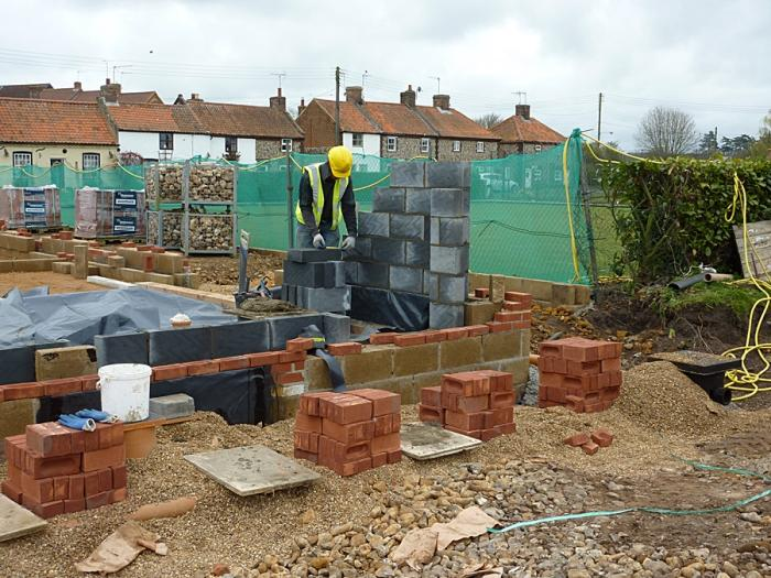 West wall being built 3