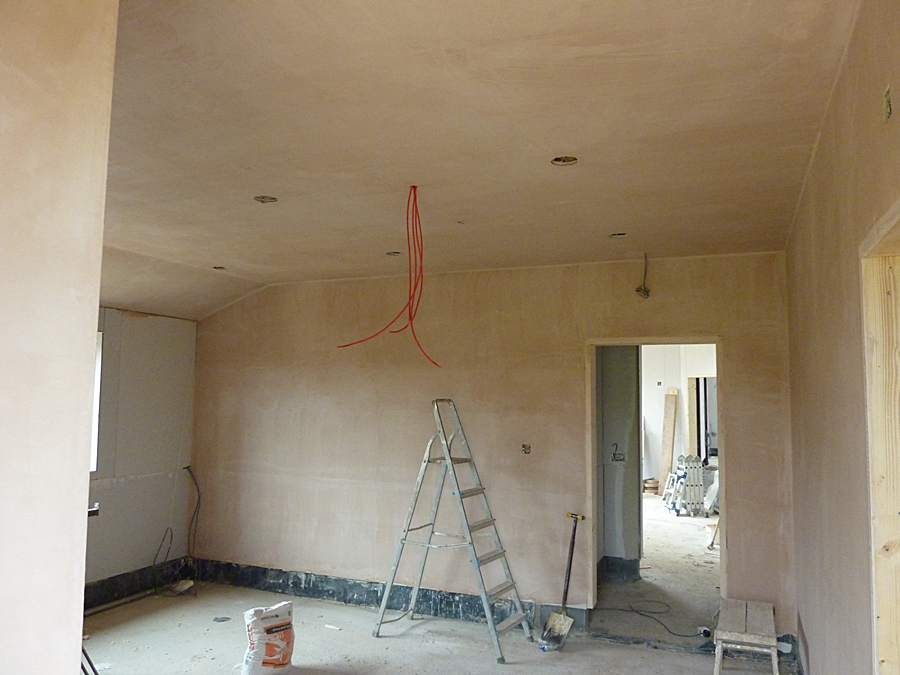 Changing room 1 plaster 1