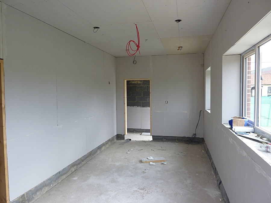 Changing room 2 plasterboard 2