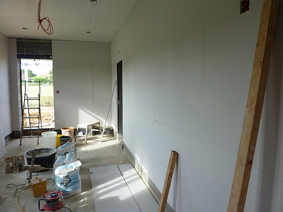 Changing room 2 plasterboard