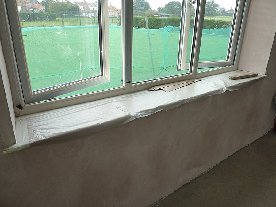 Changing room 2 window plaster 1