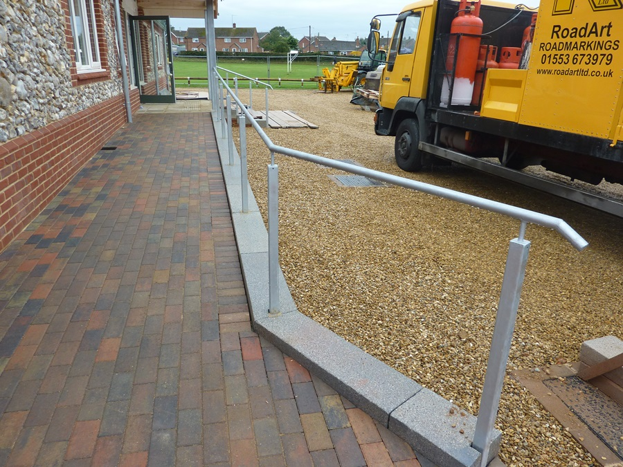 Disabled access ramp handrail 3