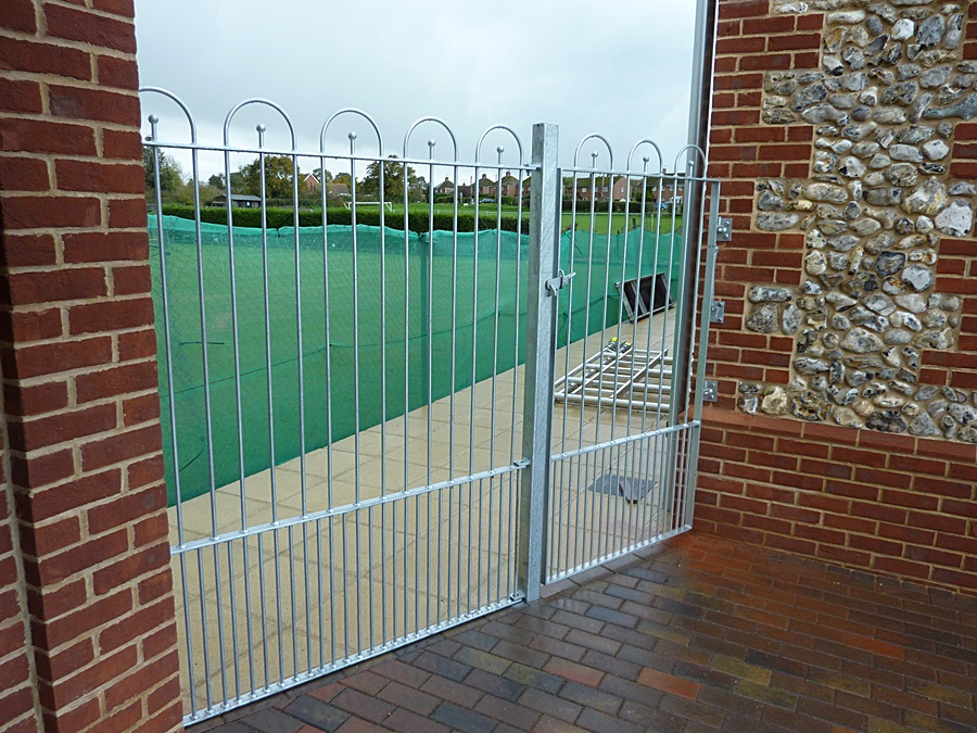 Galvanized fence and gate 1