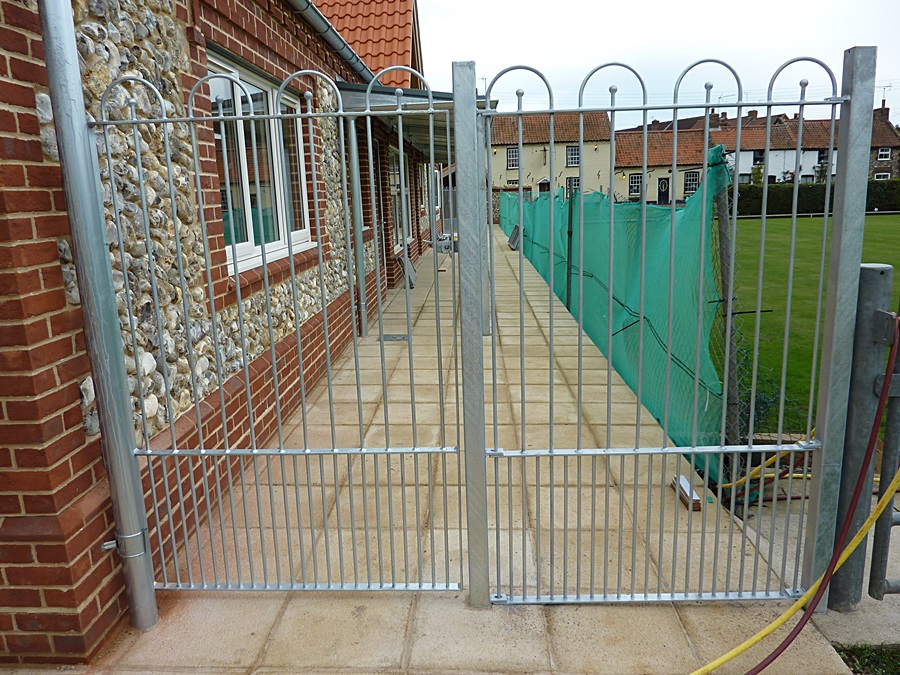 Galvanized fence and gate 2