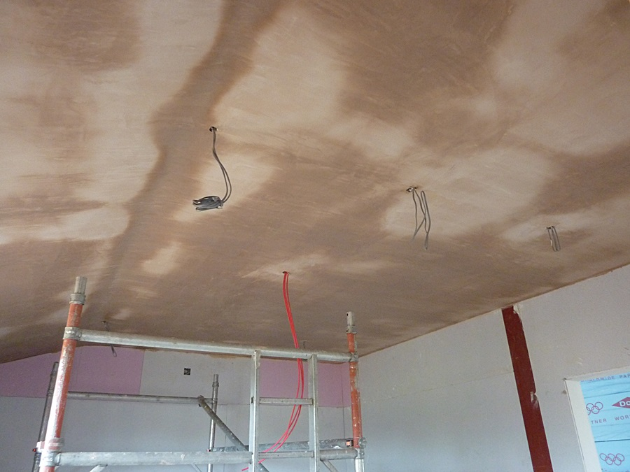 Kitchen ceiling plastered