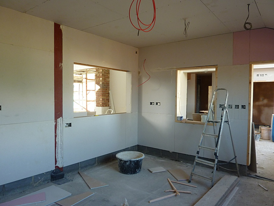 Kitchen plasterboard 3
