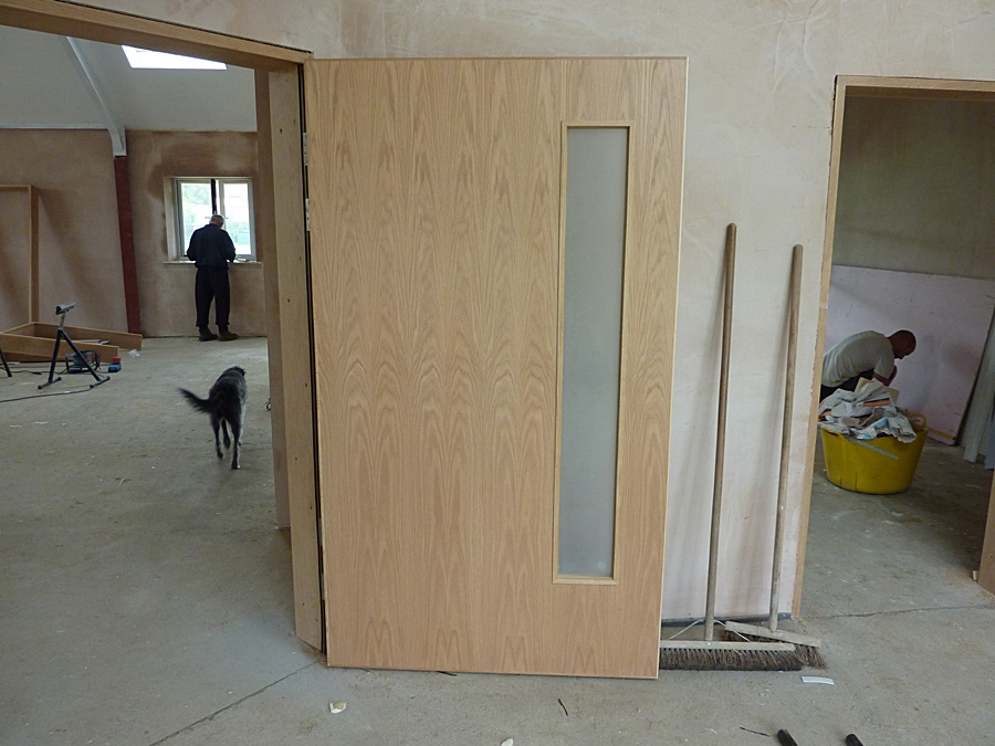 Main Hall door hung