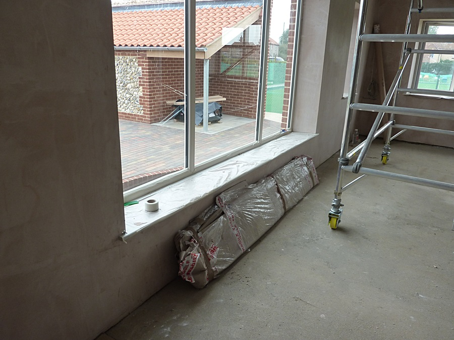 Main Hall window plaster 1