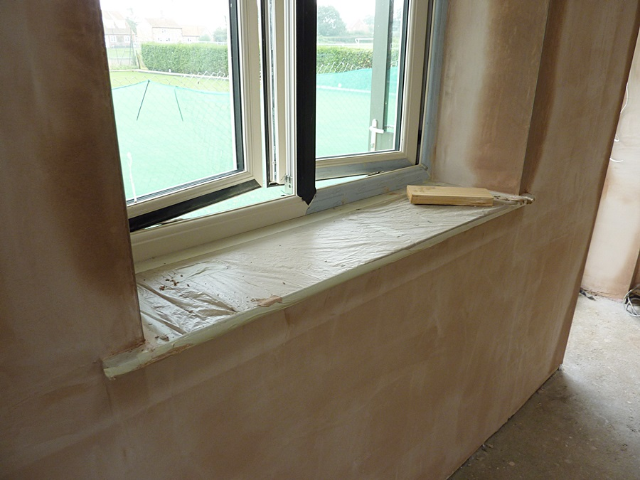 Main Hall window plaster 2