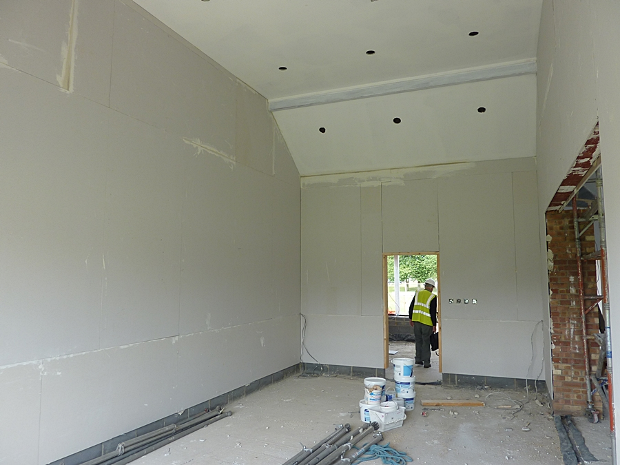 Meeting room plasterboard