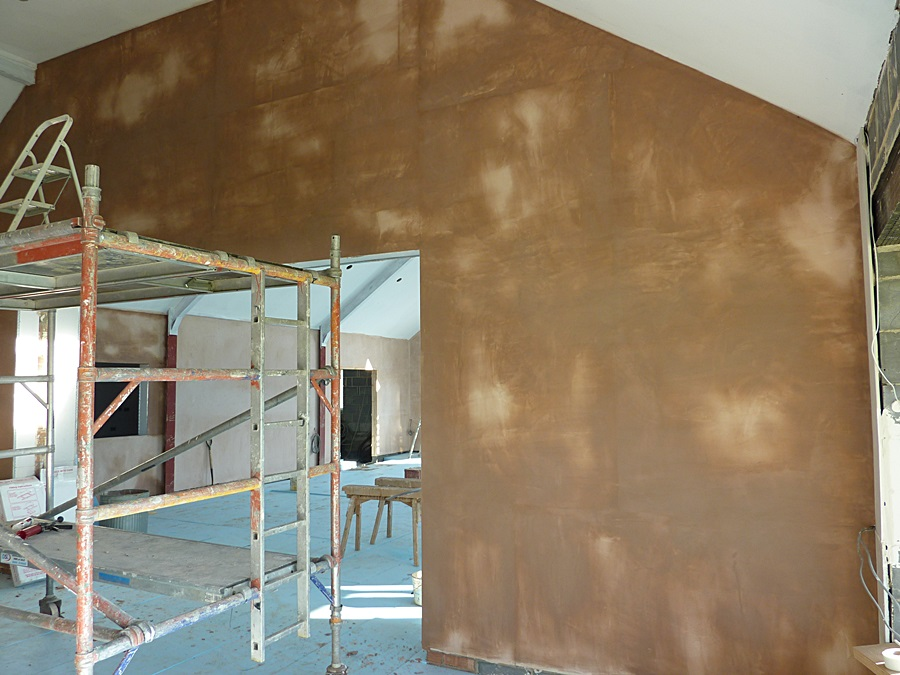 Meeting room wall plaster