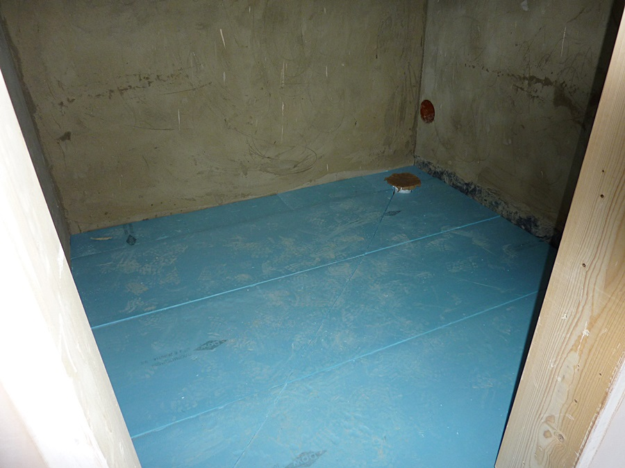 Shower room 1 underfloor insulation