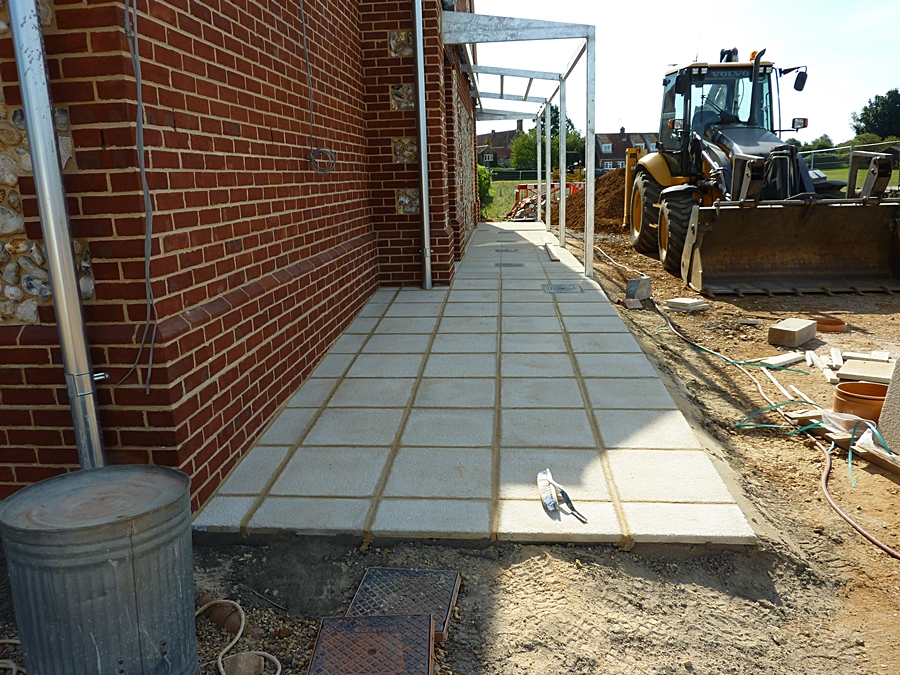 West wall paving slabs 2